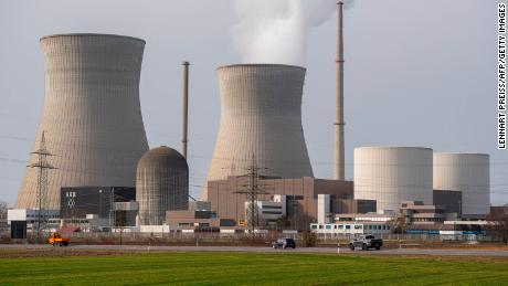 A nuclear power plant in Gundremingen, Germany, on February 26, 2021.  Germany is reducing its use of nuclear power, while New Zealand still bans it completely.
