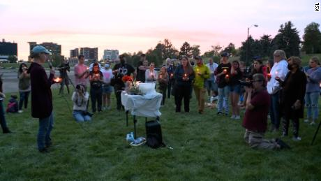 A vigil was held for Gabby Petito in Salt Lake City on Wednesday night.