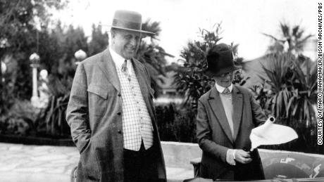 William Randolph Hearst with Hearst Castle Architect Julia Morgan, as seen in 'Citizen Hearst';  (Courtesy of Mark Wanamaker/Bison Archives)