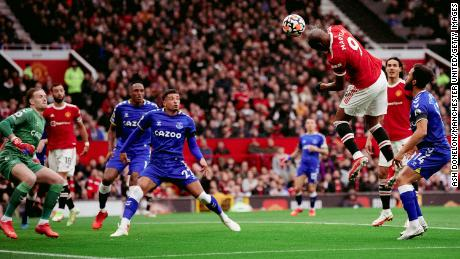 Anthony Martial gave Manchester United a first-half lead against Everton.