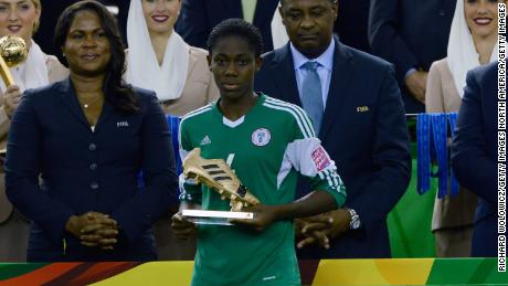 Scoring sensation: Osola won the Golden Boot with seven goals in the 2014 FIFA Women's Under-20 World Cup