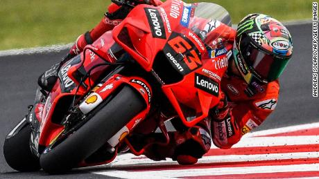 Bagania competes during the San Marino MotoGP Grand Prix at the Misano World Circuit Marco-Simoncelli on September 19, 2021 in Misano Adriatico, Italy.