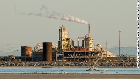 A geothermal power plant in Salton Sea, California.