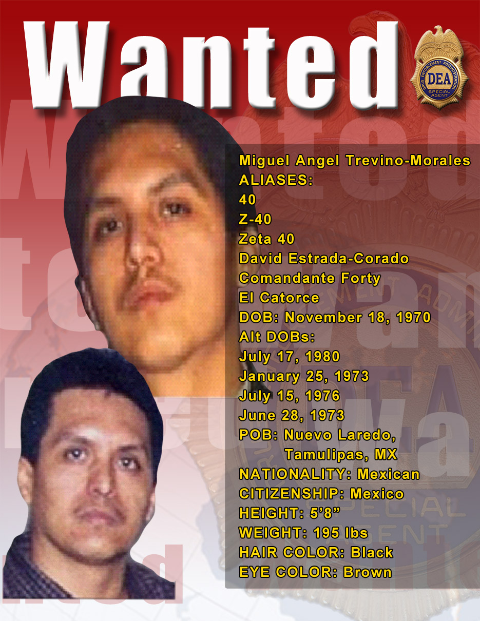 Wanted Mexican Drug Cartel Leaders
