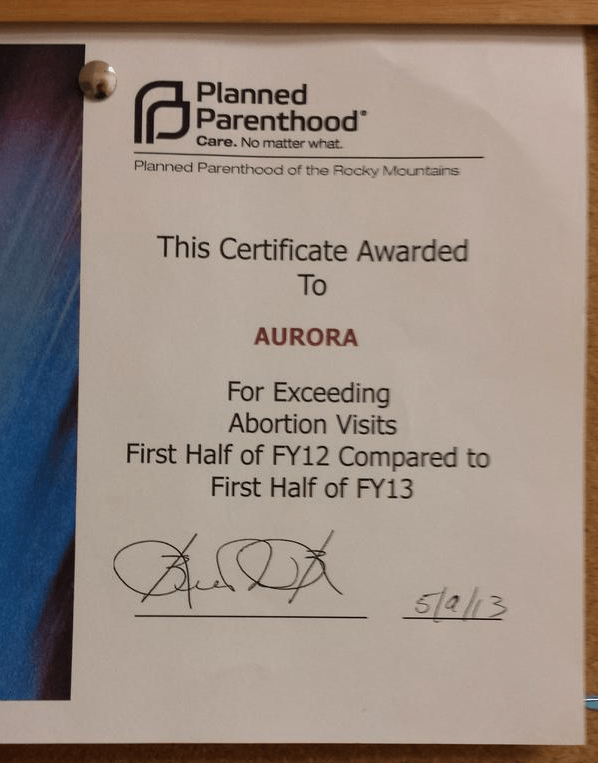 Planned Parenthood Gives Clinic Award for 'Exceeding ...