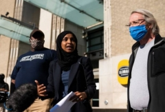 Rep. Ilhan Omar in Minneapolis, May 30, 2020. (Photo by Stephen Maturen/Getty Images)