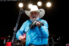 """Charlie Daniels performs on """"Fox & Friends"""" at FOX Studios on June 16, 2017 in New York City. (Photo credit: Taylor Hill/WireImage)"""