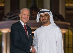 Vice President Joe Biden meets with Emirati Crown Prince Mohammed bin Zayed during a visit to the UAE in March 2016. (Photo: UAE Embassy, D.C.)