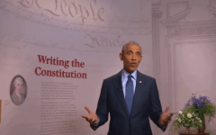 """Former President Barack Obama addresses the Democrats from Philadelphia, """"where our Constitution was drafted and signed. """" (Photo: Screen capture)"""