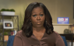 Former first lady Michelle Obama addresses the virtual Democrat National Convention on August 17, 2020. (Photo: Screen capture)