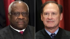 Supreme Court Justices Clarence Thomas, left, and Samuel Alito. (Getty Images)