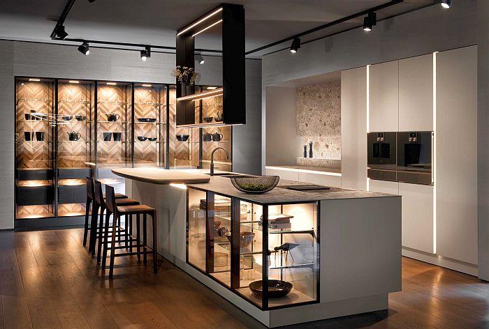 cocinas, concepto sin tiradores, MOW, Pure, Siematic, superficies de vidrio tintado