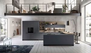 Fenix NTM, Fluida, Metro, Mood, Scavolini, Scavolini's Mood kitchen, Setup