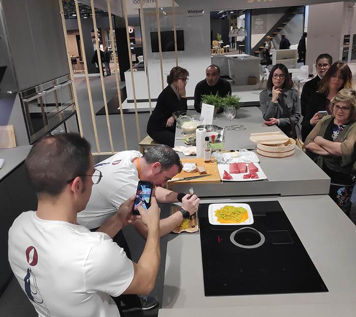 Delta cocinas, cata de vino, cata marinada, espacio cocina sici 2019, feria sici 2019, sici 2019, feria de la cocina, valencia, mueble de cocina, showcooking, actividades,rioja, vino