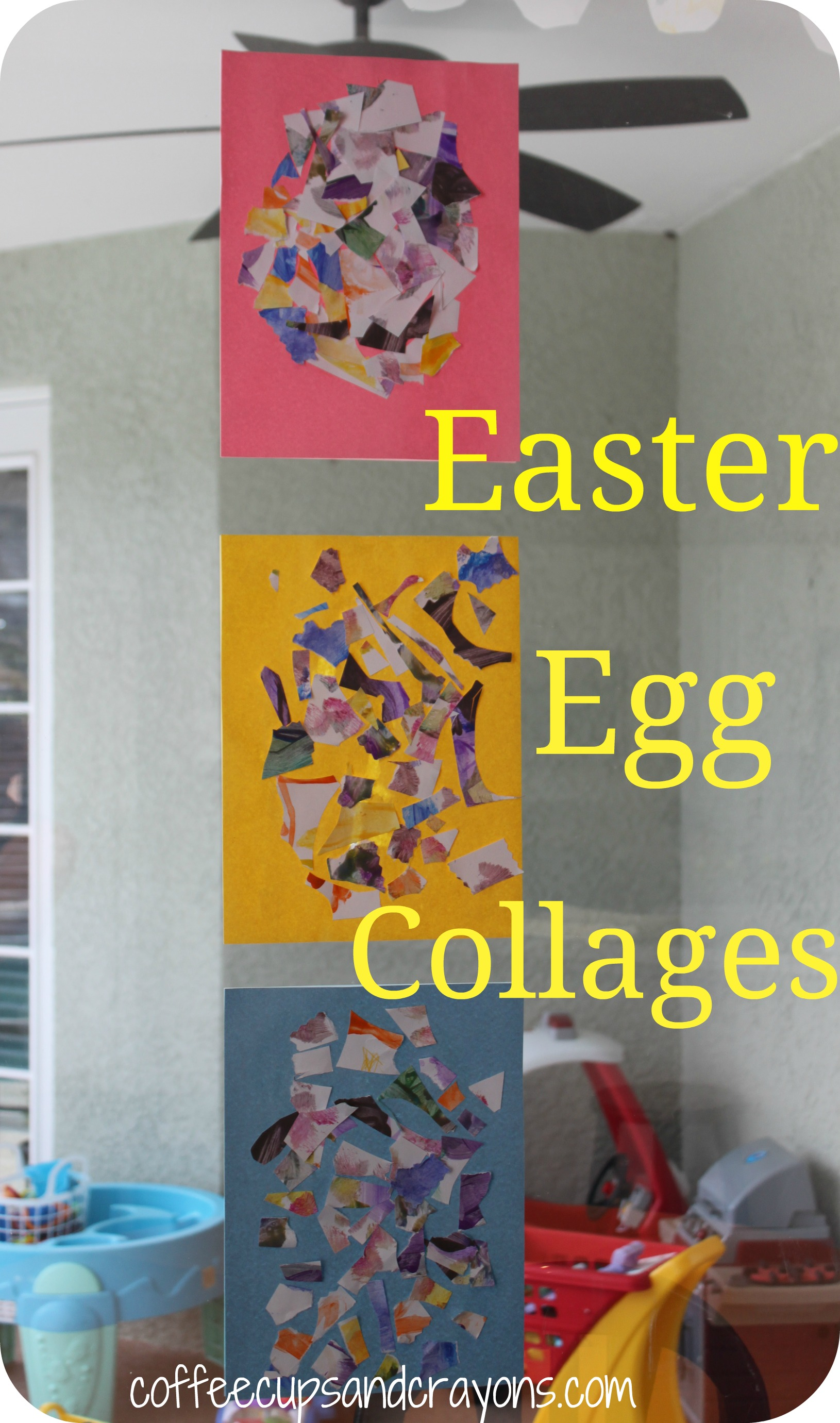 Easter Egg Garland And Collages Great Scissor Practice