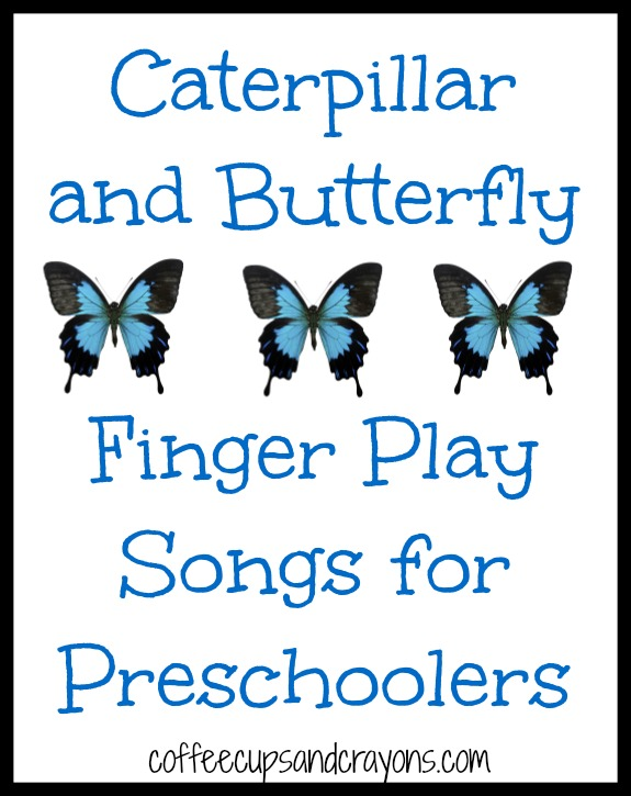 Preschool Butterfly Songs : preschool, butterfly, songs, Caterpillar, Butterfly, Finger, Songs, Coffee, Crayons