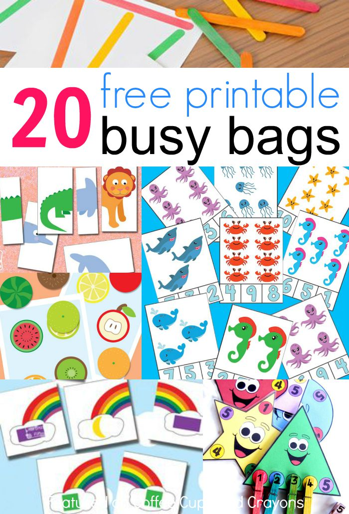 20 free printable busy
