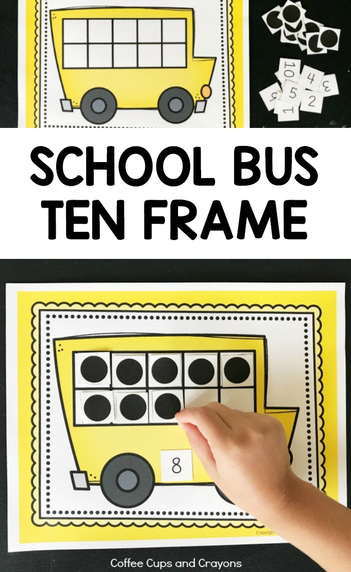 hight resolution of Printable School Bus Ten Frame Activity   Coffee Cups and Crayons