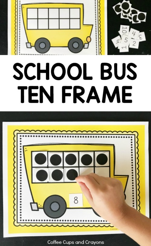 small resolution of Printable School Bus Ten Frame Activity   Coffee Cups and Crayons