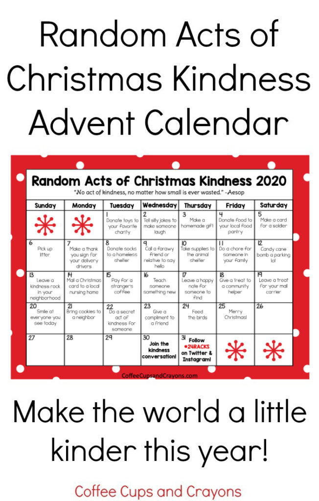 Most Recent Act Of Kindness Funny : recent, kindness, funny, Random, Christmas, Kindness, Advent, Calendar, Coffee, Crayons