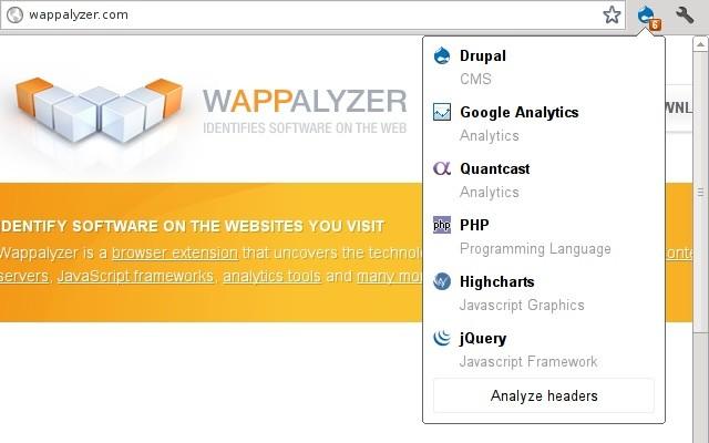 Wappalyzer Extension