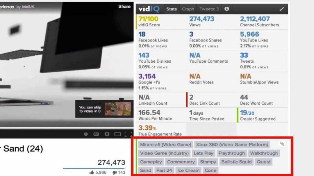vidIQ Vision for Youtube Extension