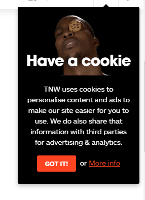 Cookie notification