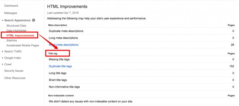 HTML-Improvements-Google-Webmaster-Tools