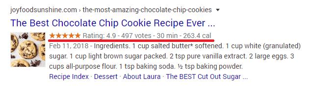 Recipe Schema markup