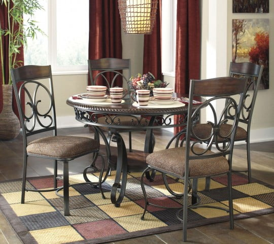 Glambrey Round Dining Room Set From Ashley D329 15 Coleman Furniture