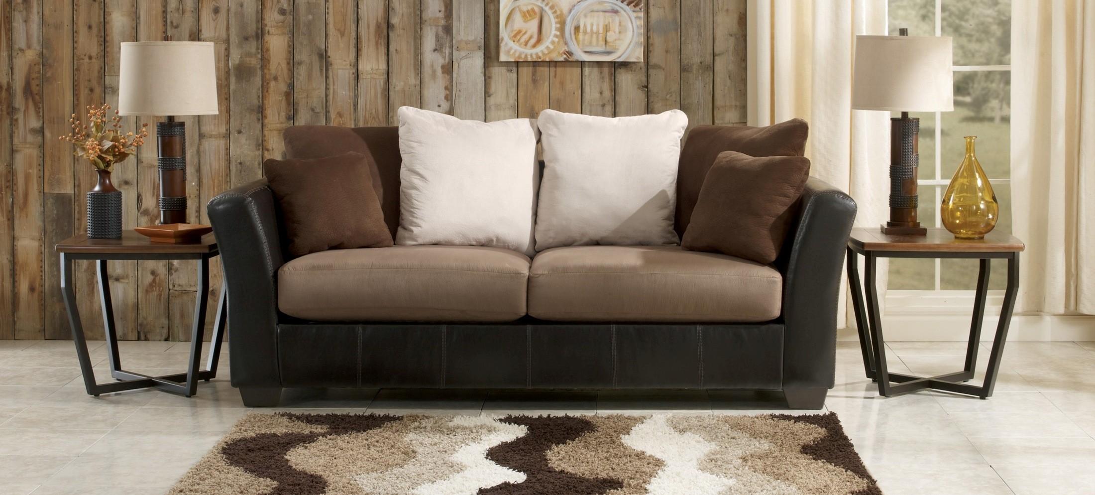 ashley furniture morandi mocha sofa retro sofas masoli 1420138