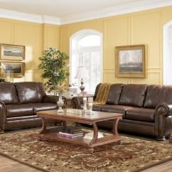 Ashley Furniture Palmer Sofa Chair And Ottoman Walnut By 2050038 Leather