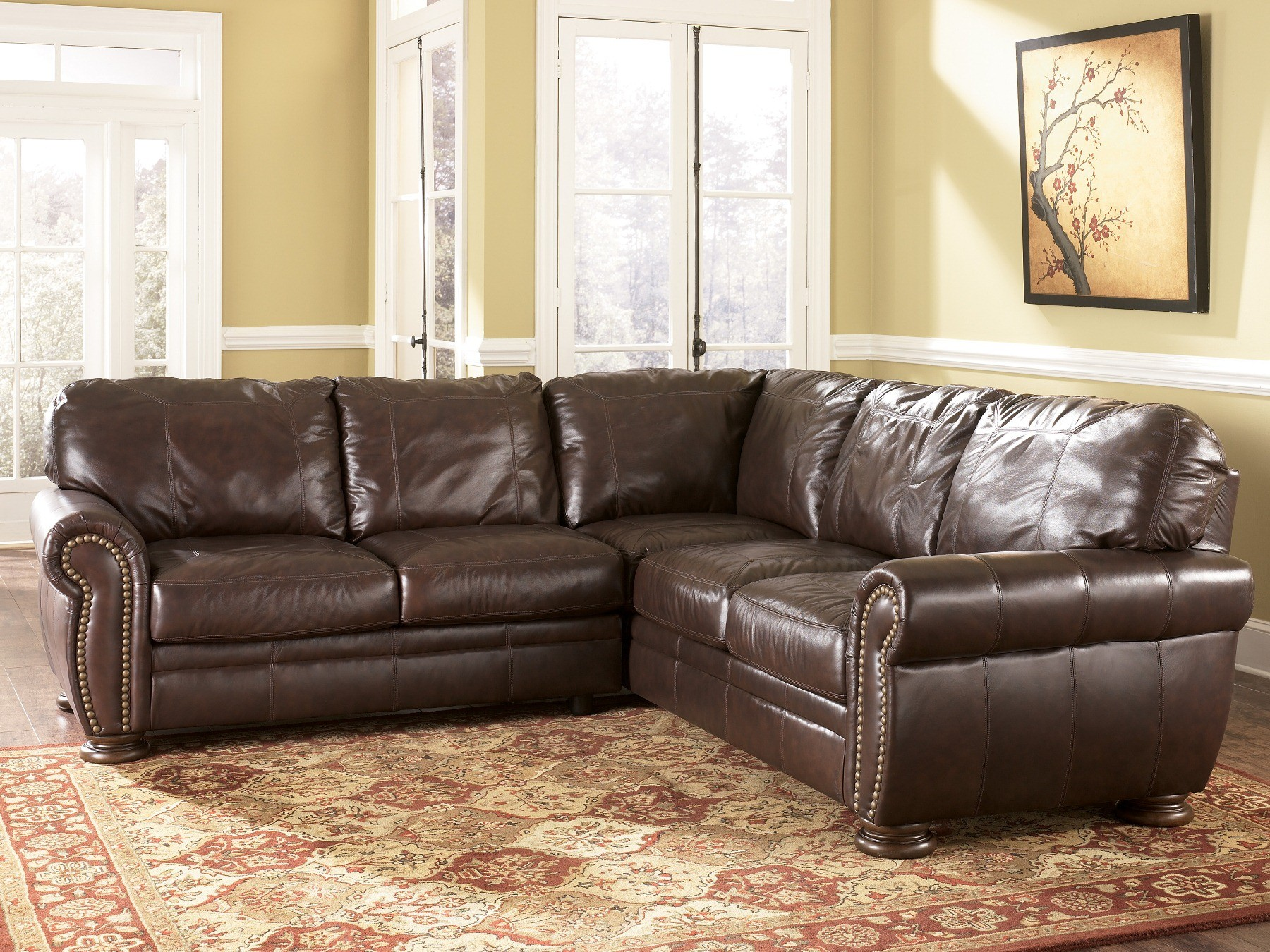 ashley furniture palmer sofa bed red walnut sectional 2050067