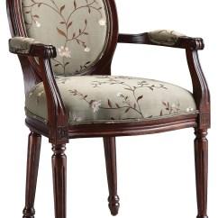 Floral Arm Chair Boon Flair Pedestal High Fabric Accent In Light Green 28382 Stein World