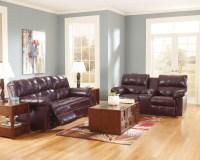 Burgundy Living Room Set