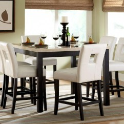 White Dining Room Table And 6 Chairs Drop Leaf With Folding Chair Storage Archstone Counter Height Set From Homelegance