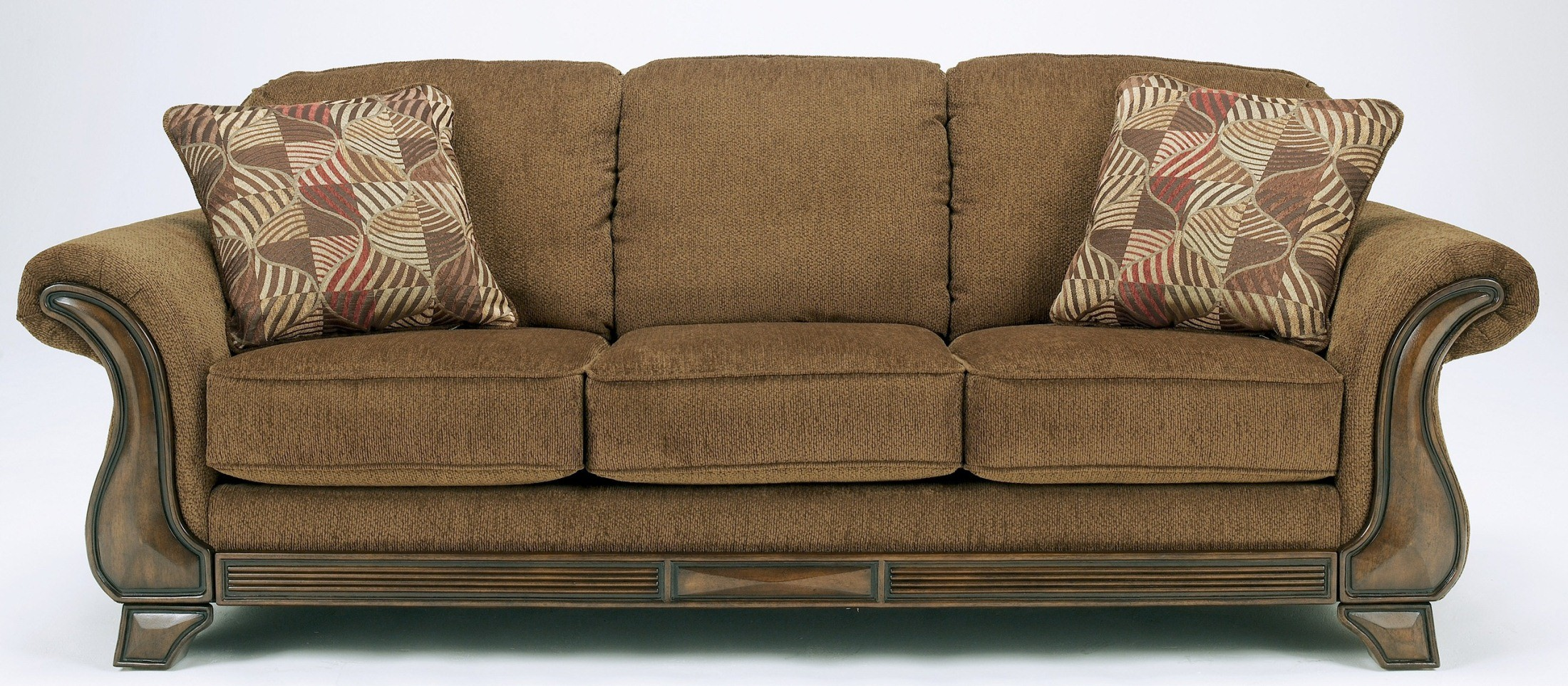 ashley sleeper sofa voyager lay flat reclining montgomery mocha queen 3830039 furniture