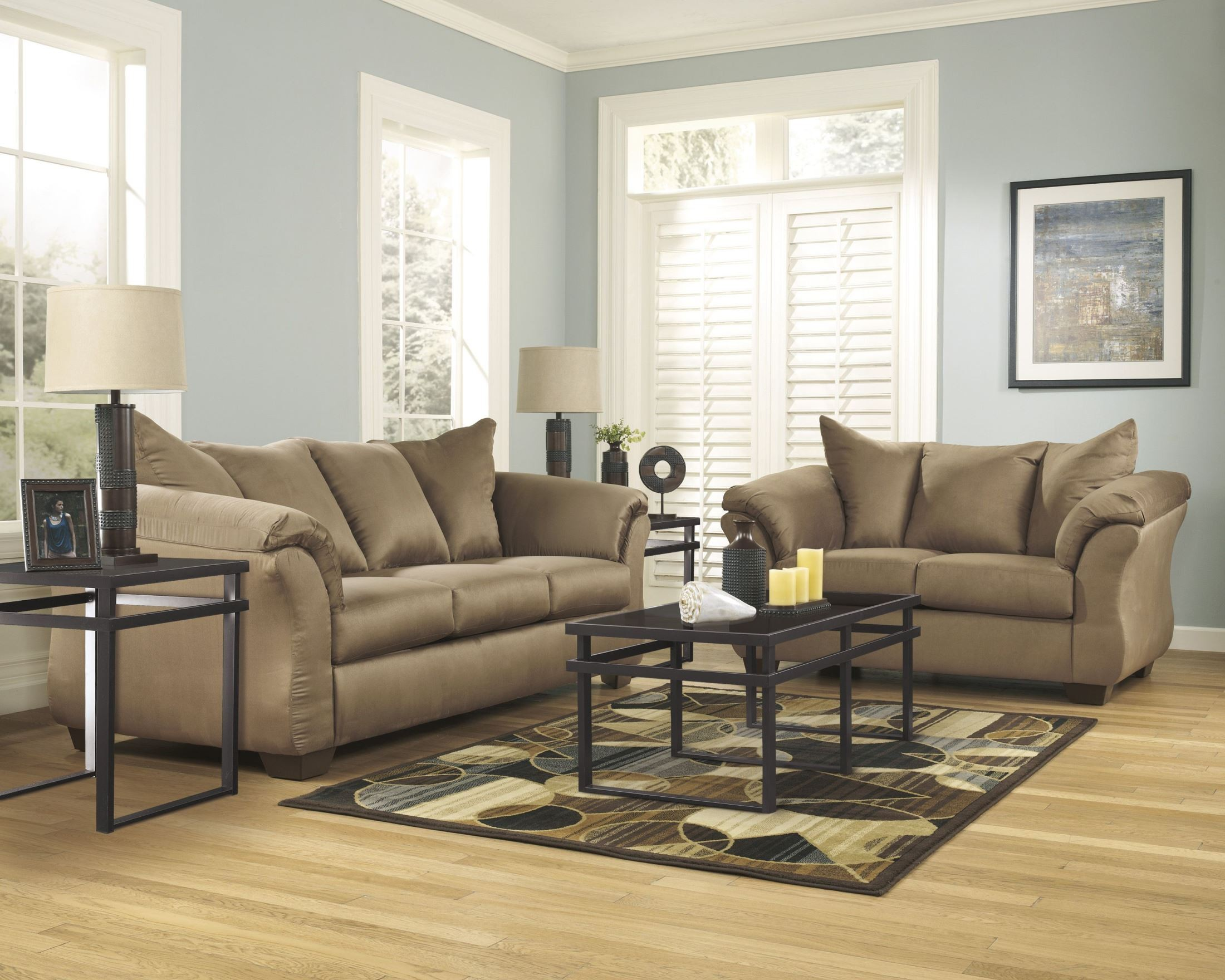 darcy sofa chaise ashley furniture what is the most comfortable bed mattress mocha sectional 7500218