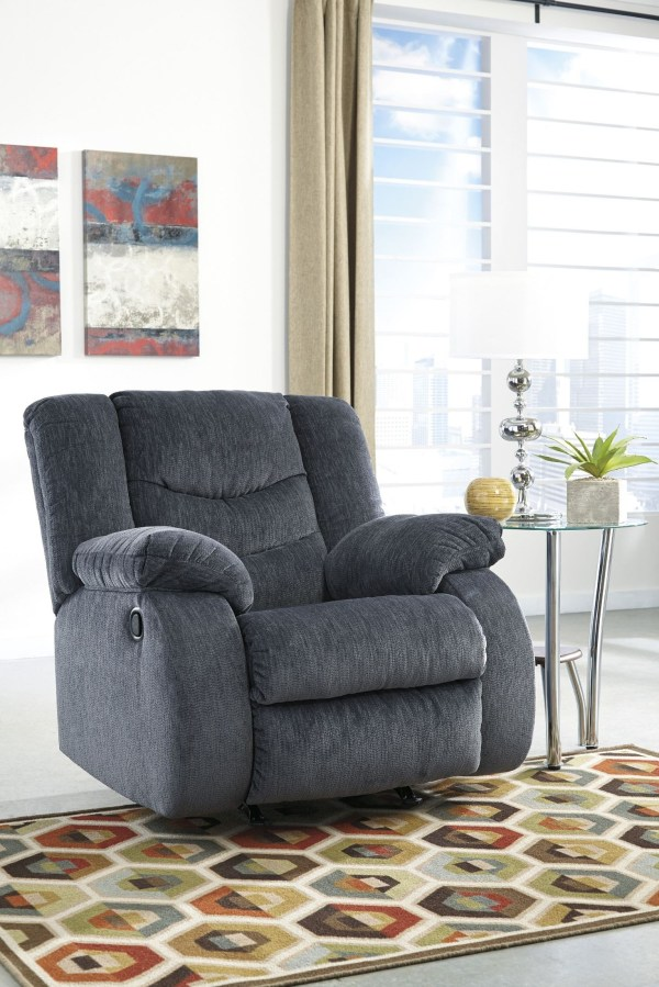Garek Blue Reclining Living Room Set 92001-88-94 Ashley