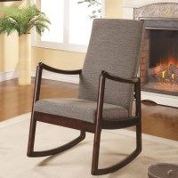 600196 Mid-Century Upholstered Modern Rocking Chair ...