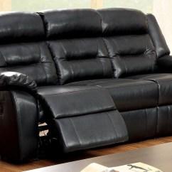 Black Bonded Leather Chair Office Depot Sheldon Match Reclining Sofa Cm6320