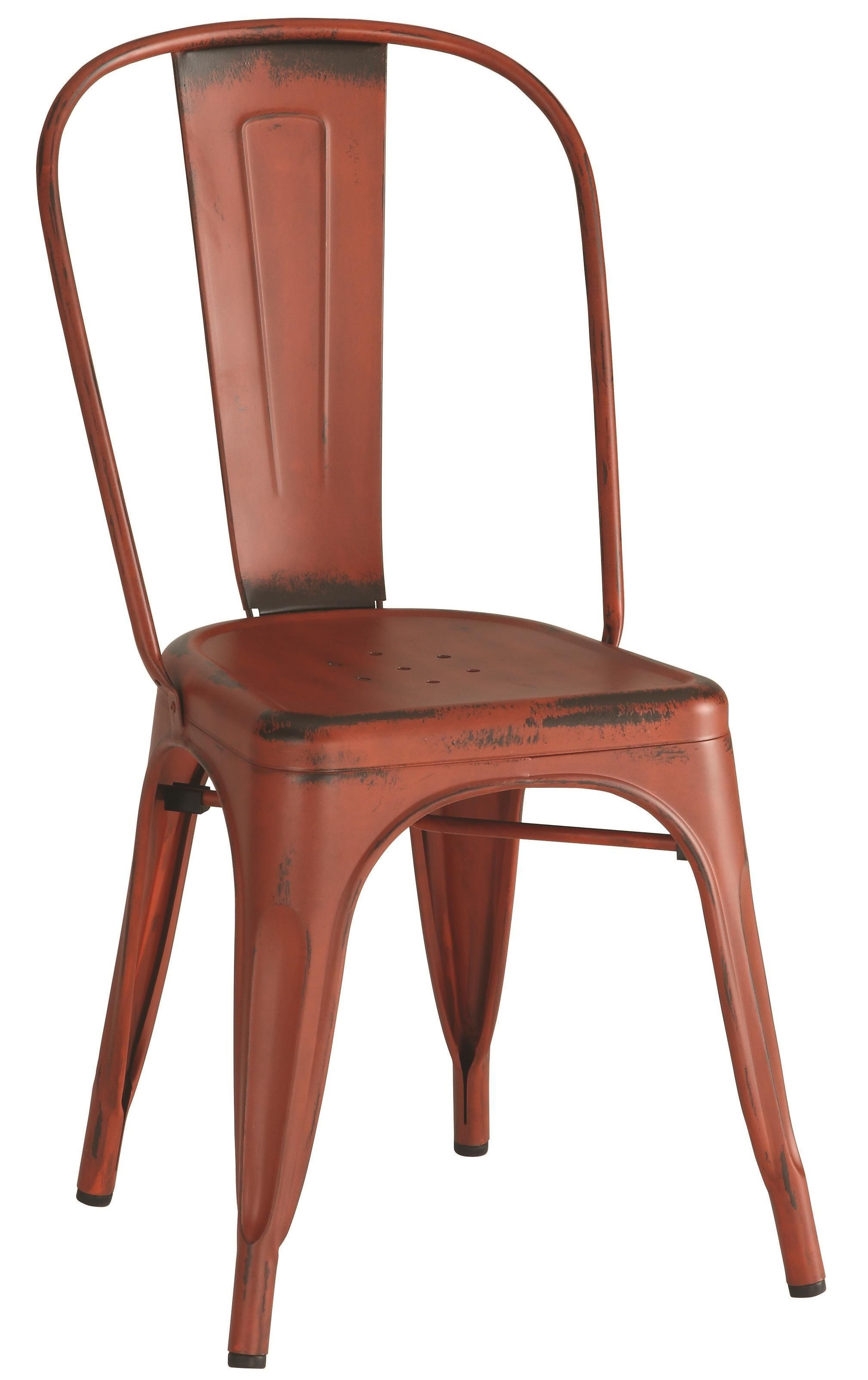 metal dining chairs hunting and stools bellevue red chair set of 4 105613 coaster