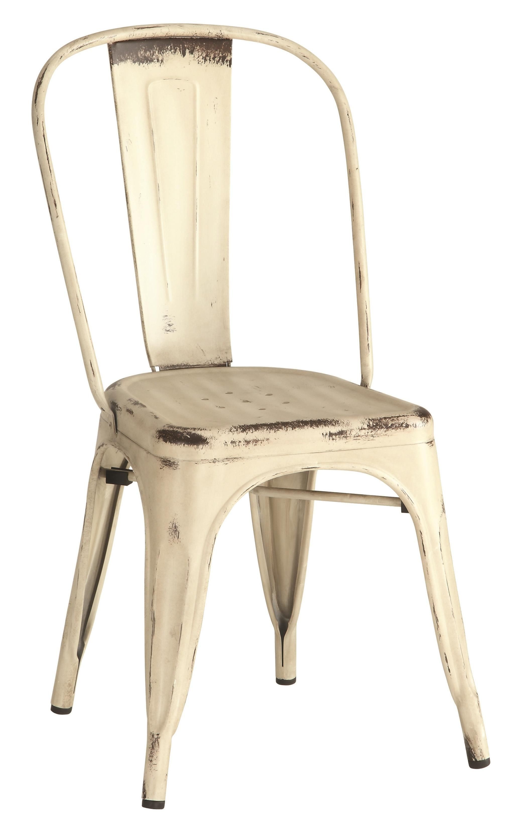 Bellevue White Metal Dining Chair Set of 4 105615 Coaster