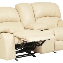 Glider Sofa Sears Canada Furniture Damacio Cream Reclining Loveseat With Console