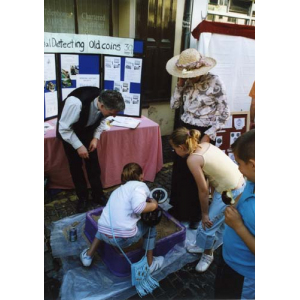 Newport History Society with a metal detecting stall
