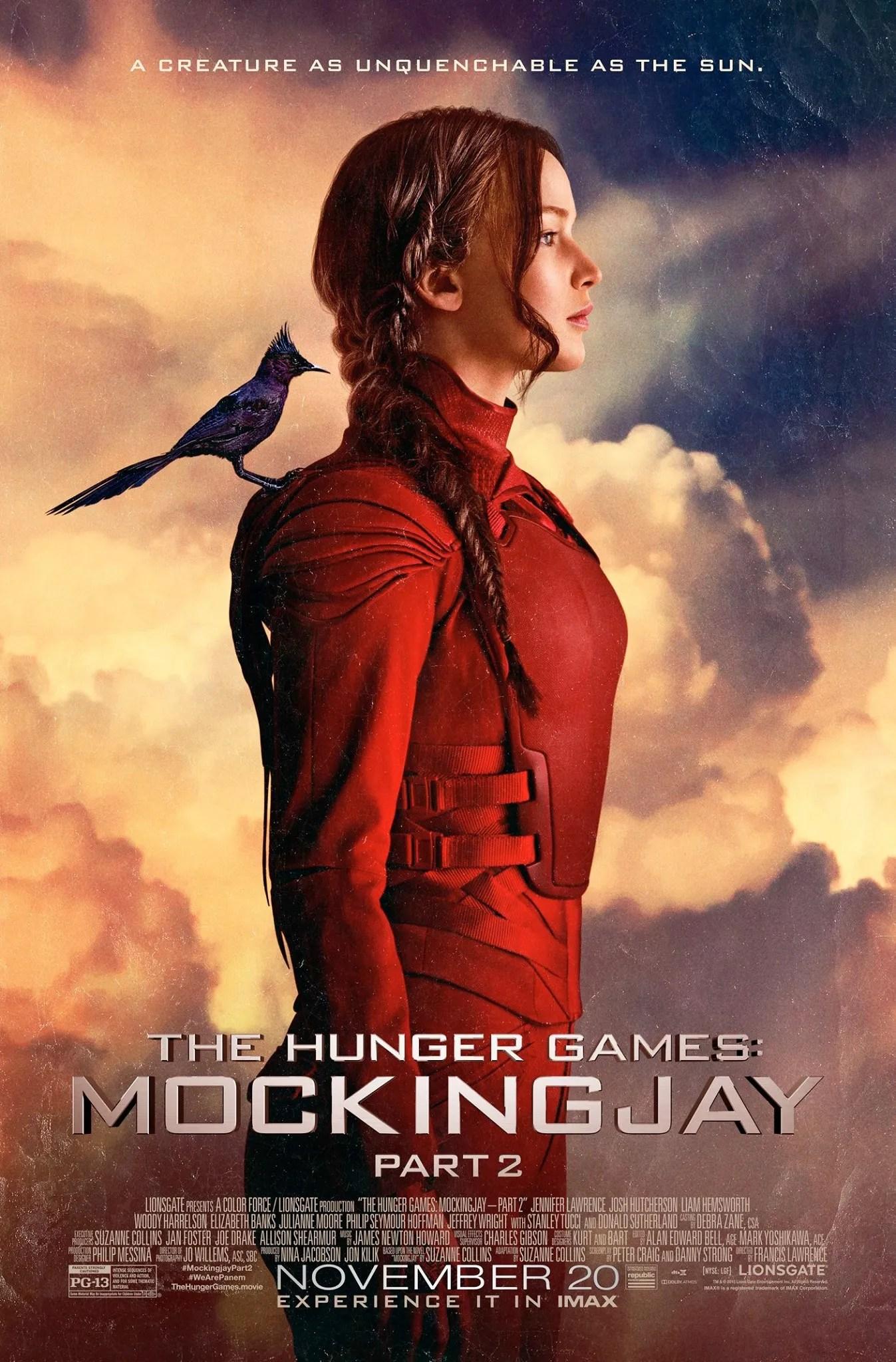 Hunger Games Jennifer Lawrence Adorns New Trailer Poster