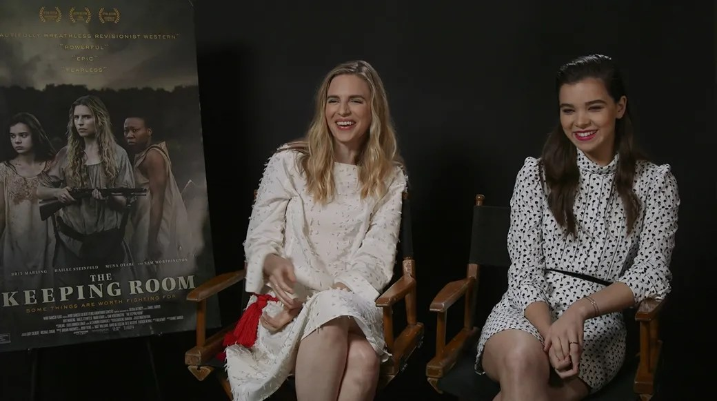 Brit Marling and Hailee Steinfeld Talk The Keeping Room  Collider