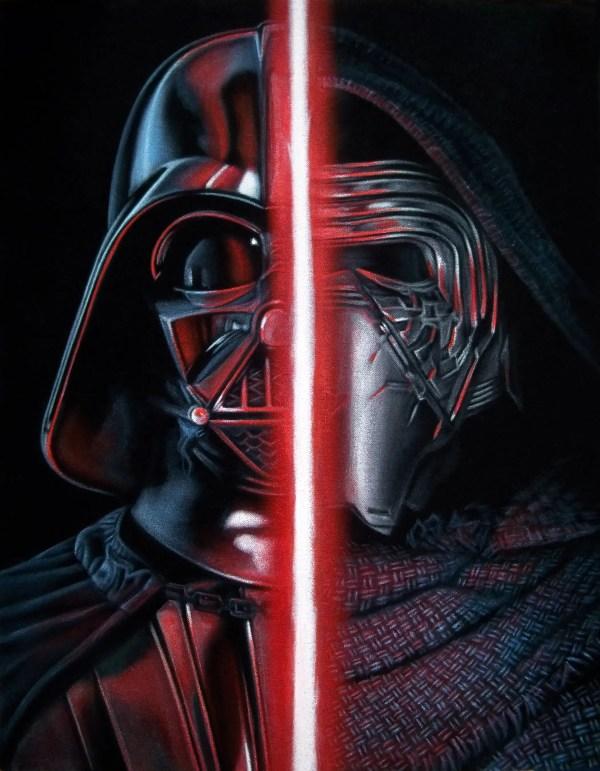 Star Wars Force Awakens Art Display