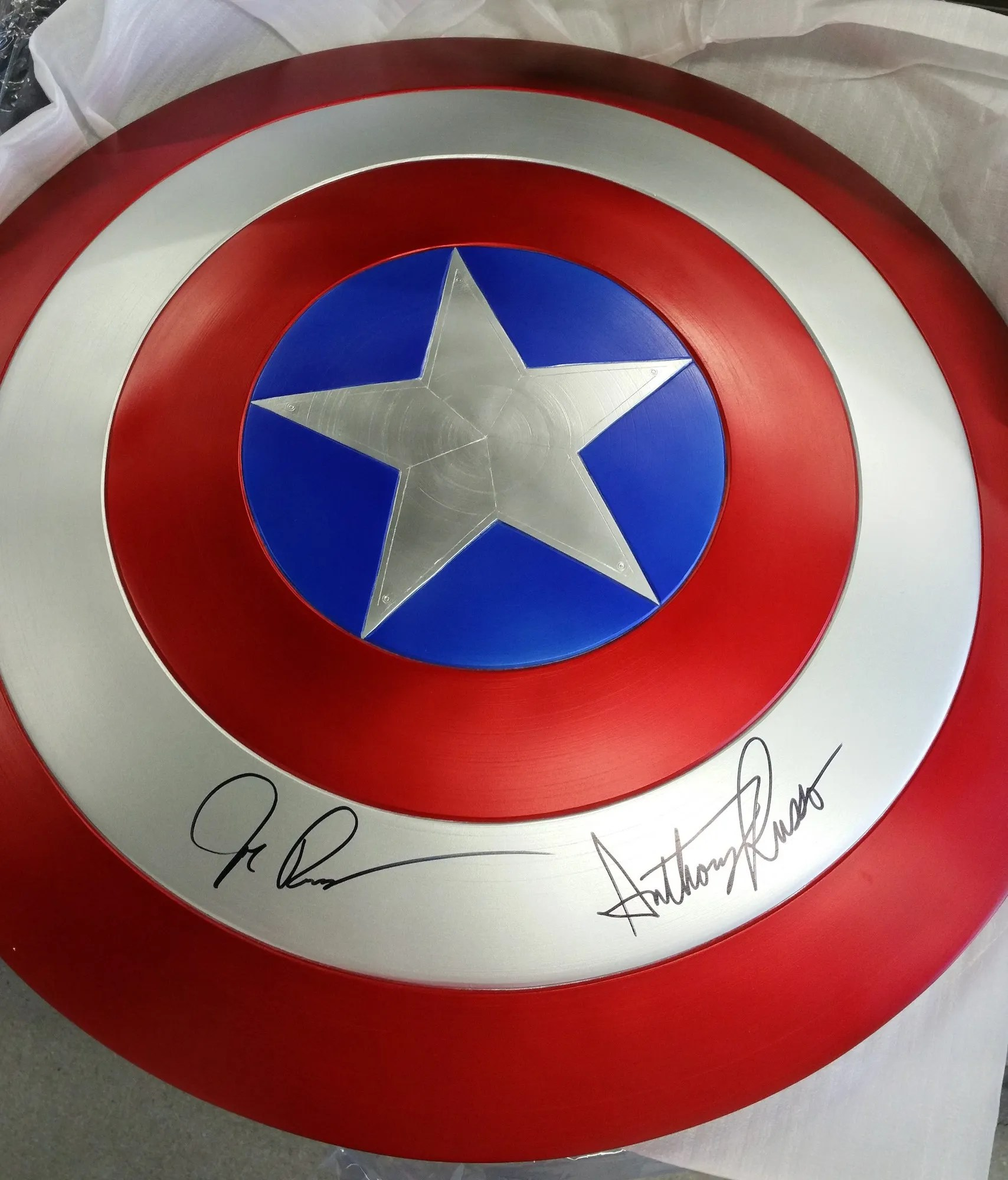 Win A Captain America Shield Signed By The Russo Brothers