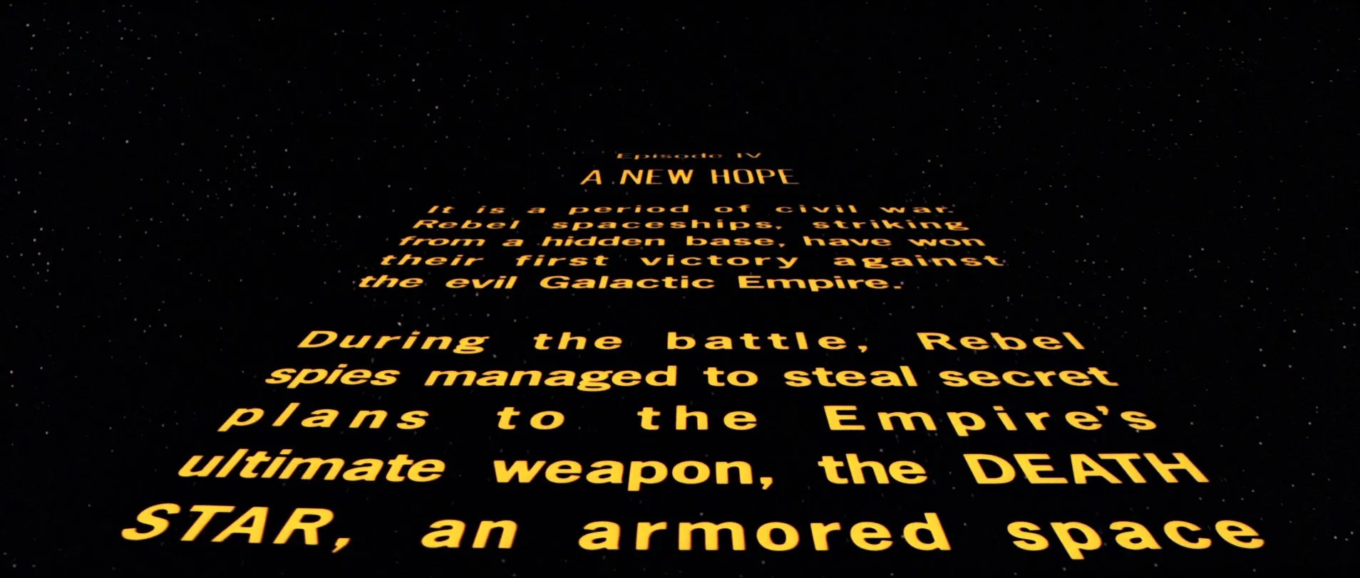 Rogue One No Opening Crawl For This Star Wars Story